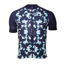 J.Lindeberg - Roubaix Bike Pro-Poly Herren Bike Trikot (dunkelblau/hellgrün) - XL