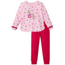 Schiesser Mädchen Zweiteiliger Schlafanzug Prinzessin Lillifee Md Lang, Gr. 104, Rot (rosa 503)