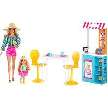 Barbie Eiscafé Spielset mit Barbie und Chelsea Puppe und Zubehör