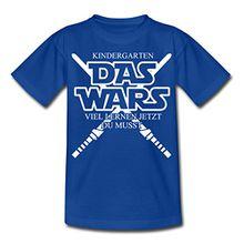 Spreadshirt Kindergarten Das Wars Lernen Du Musst Kinder T-Shirt, 122/128 (7-8 Jahre), Royalblau