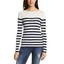 Street One Damen Pullover 300501, Mehrfarbig (Night Blue 20109), 36
