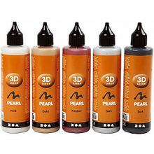 3D Liner-Sortiment Metallicfarben, 5x100ml