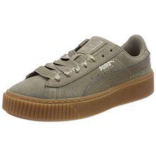 Puma Damen Suede Platform Bubble WN's Sneaker, Braun (Bungee Cord), 41 EU