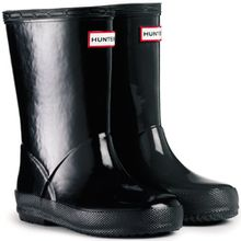 Unisex Kinder Hunter Kinder First Gloss Regen Wasserdicht Gummistiefel - Schwarz - 33