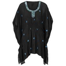 Damen UK Größe 8–22schwarz Perlen Kaftan Tunika Gr. 40, Schwarz