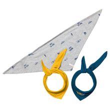 ESPRIT Dreieckstuch blau / gelb / grau