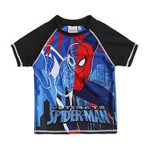 Spiderman Jungen Swim Shirt - schwarz - 128