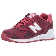 New Balance Damen 574 Camo Pack Lifestyle Fashion Sneaker Low-Top, Radish/White, 36 EU