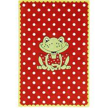 Kinderteppich Garden, Frosch Rot-Weiß Pünktchen rot