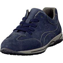 Gabor Damenschuhe Comfort 06.385.26 Damen Schnürer, Schnürschuhe, Halbschuhe (Sneaker) mit gratis Gabor Socken blau (nightblue), EU 37