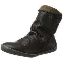 Softinos Damen NAT332SOF Smooth Stiefel, Schwarz (Black), 37 EU