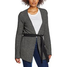 comma Damen Strickjacke 81.611.64.5476, Grau (Grey/Black Knit 99X7), 40