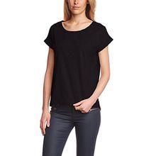 VILA CLOTHES Damen T-Shirt VIDREAMERS PURE, Einfarbig, Gr. 34 (Herstellergröße: XS), Schwarz