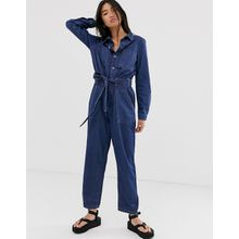 Only - Utility-Jumpsuit aus Denim - Blau