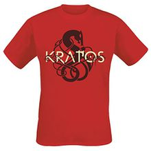Sony Herren God of War Men's Kratos Symbol Logo T-Shirt, Extra Red (GE6241XL), Red (Red Red), X-Large