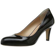 Evita Shoes Pumps geschlossen, Damen Pumps, Schwarz (Schwarz), 37 EU (4 Damen UK)