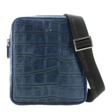 Braun Büffel Umhängetasche LISBOA in modischem Reptilien-Design Handtaschen blau Herren