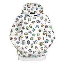 Ecollection® Damen Unisex 3 Digital Print Fashion Hoodies Sweatshirts Tops (S /M, 2)