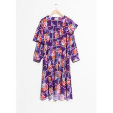 Fruity Print Dress - Purple