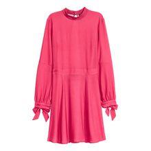 H & M - Kleid mit Stehkragen - Red - Damen
