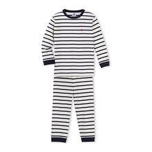 Petit Bateau Jungen Zweiteiliger Schlafanzug Pyjama 28714, Mehrfarbig (Coquille/Smoking 60), 128 (Herstellergröße: 8ans/128cm)
