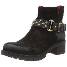Buffalo London ES 30612 Trend Plisse Mask, Damen Biker Boots, Schwarz (Nero 19), 36 EU
