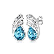 Elli Paar Ohrstecker »Tropfen Swarovski® Kristalle Basic Glamour Silber«