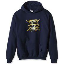 Coole-Fun-T-Shirts Jungen Kapuzenpullover KINDERGARTEN DAS WARS,134/146, Blau (navy-gold