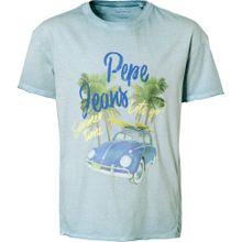 Pepe Jeans T-Shirt 'JOEY' hellblau / hellgelb / hellgrün