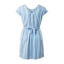 TOM TAILOR Kleid blau / weiß