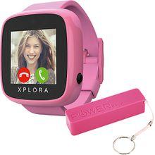 XPLORA GO Smartwatch Kids pink inkl. XLayer Powerbank Colour Line Pink 2600 mAh Mädchen Kinder