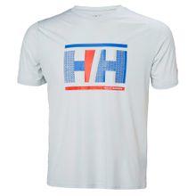 HELLY HANSEN T-Shirt 'Hp Circumnavigation T' blau / hellgrau / rot