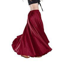 YouPue Damen Tanzkostüm Bauchtanz-Kostüm sexy High-End-Dual Rock Bauchtanz Leistungen große Rock Komfort (nicht enthalten Gürtel) Gürtel Kostüme Bauchtanz Taille Kette Weinrot