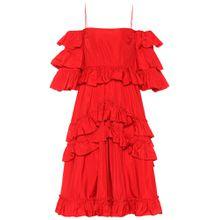Off-Shoulder-Kleid aus Taft