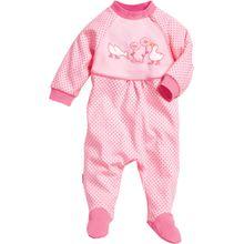 Playshoes Schlafanzug Gänse rosa