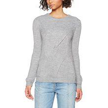 ICHI Damen Pullover Embra LS, Grau (Grey Melange 10020), 42 (Herstellergröße: XL)