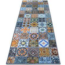 Teppichläufer Bonita | Patchwork Muster im Vintage Look | viele Größen | moderner Teppich Läufer für Flur, Küche, Schlafzimmer | Niederflor Flurläufer, Küchenläufer | Breite 80 cm x Länge 200 cm
