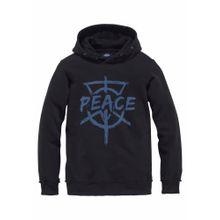 BUFFALO Kapuzensweatshirt blau / schwarz