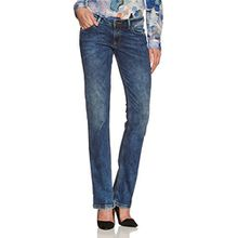Cross Jeans Damen Boot-Cut Jeans Laura, Gr. W26/L30 (Herstellergröße: 26), Blau (Mid Blue 307)