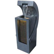 Wasserspiel, inkl. Pumpe und LED-Beleuchtung, B34,5 x T38 x H100 cm dunkelgrau