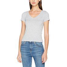 G-STAR RAW Damen T-Shirt Base V T Wmn Cap SL, Grau (Grey HTR 906), Large