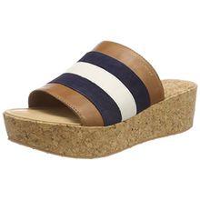 GANT Footwear Damen Judith Plateausandalen, Mehrfarbig (Marine/Tan/Cream), 36 EU