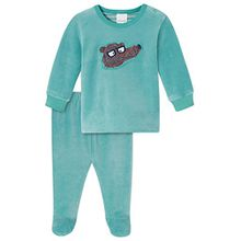 Schiesser Baby-Jungen Zweiteiliger Schlafanzug Anzug 2-Teilig, Blau (Türkis 807), 80 (Herstellergröße: 080)