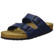 BIRKENSTOCK Arizona 51063, Unisex - Erwachsene Clogs & Pantoletten aus Birko-Flor, Blau (Blau), EU 35 (schmal)