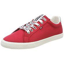 Tommy Jeans Damen Casual Sneaker, Rot (Tango Red 611), 37 EU