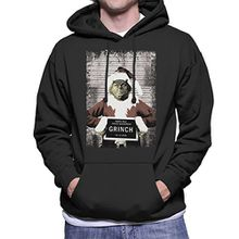 The Grinch Christmas Mugshot Men's Hooded Sweatshirt