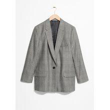 Tapered Blazer - Grey