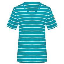 TAO Sportswear Damen Kurzarm Shirt Bio-Baumwolle SELDA T-Shirts türkis/weiß Damen
