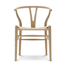 Carl Hansen - CH24 Wishbone Chair, Eiche geseift / Naturgeflecht