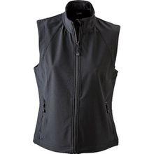 James & Nicholson Damen Jacke Softshellweste schwarz (black) X-Large